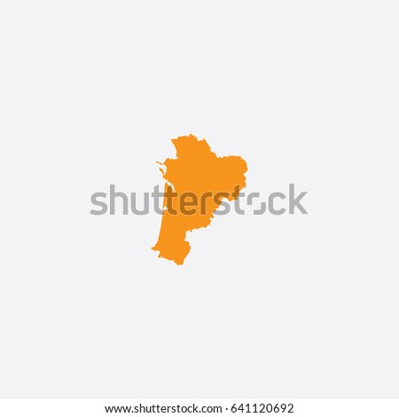 Map Nouvelle Aquitaine France Vector Illustration Stock Vector