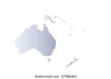 map oceania gray
