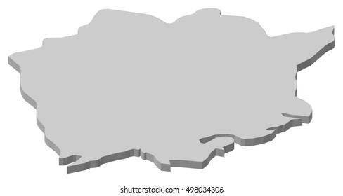 Map - Okayama (Japan) - 3D-Illustration