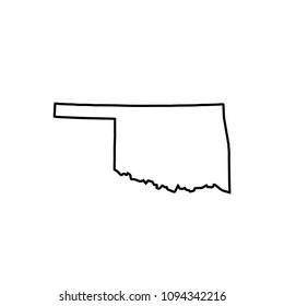map of Oklahoma. vector illustration