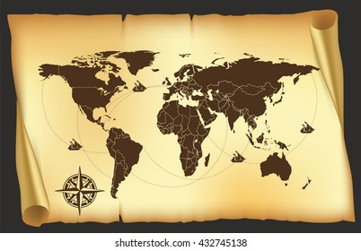 map. old map. pirates map. world map