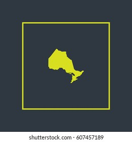 Map of Ontario Vector Illustration