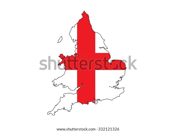 Simple Map Of England.Map Original Simple Republic England Flag Stock Vector Royalty Free