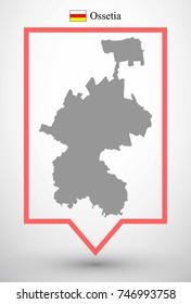 Map of ossetia. Iryston