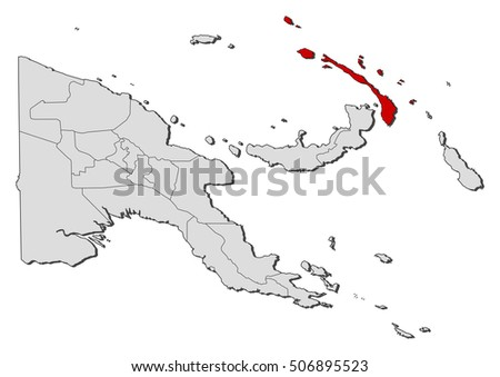 Map Papua New Guinea New Ireland Stock Vector Royalty Free