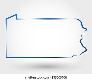 map of pennsylvania. map concept