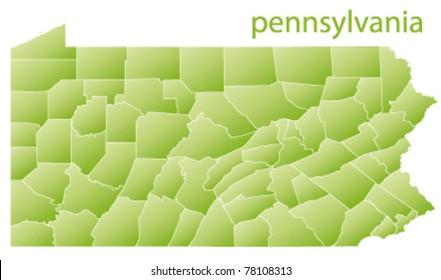 map of pennsylvania state, usa