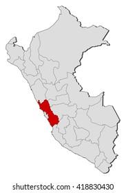 Map - Peru, Lima