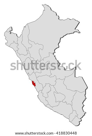 Peru Karte Umriss.Map Peru Lima Region Stock Vektorgrafik Lizenzfrei