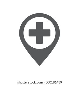map pin icon ,hospital