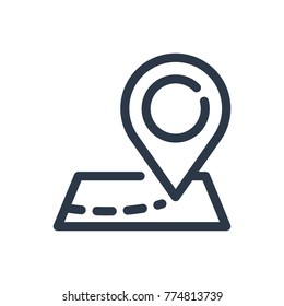 Map pin icon. Isolated address and map pin icon line style. Premium quality vector symbol drawing concept for your logo web mobile app UI design.