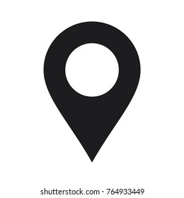 map pin icon, location pin vector icon, flat design best map pin icon