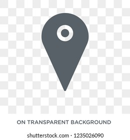 Map Pin icon. Trendy flat vector Map Pin icon on transparent background from Maps and Locations collection.