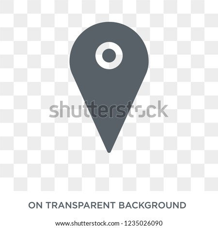 map pin icon trendy flat vector stock vector royalty free