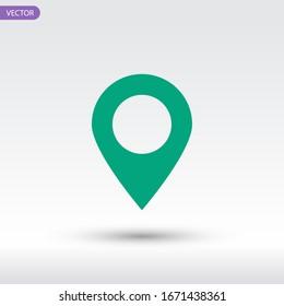 Map Pin icon. Vector illustrator