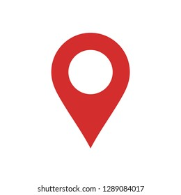 Map pin icon vector. Map marker vector