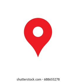 Map Pin icon. Pin Vector, Red