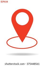 Map pin icon.Location Vector illustration