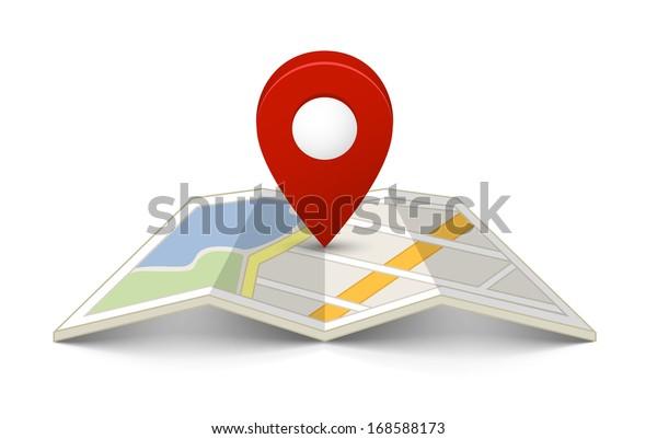 Karte mit einem Stift einzeln auf Weiß