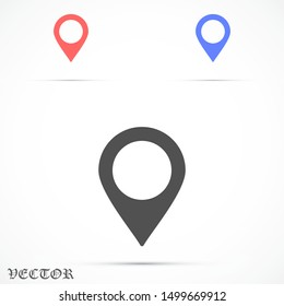 Map pin location. Location icon. Map pointer icon. Map pin Design style Modern icon.Location pin sign Isolated on white background.
