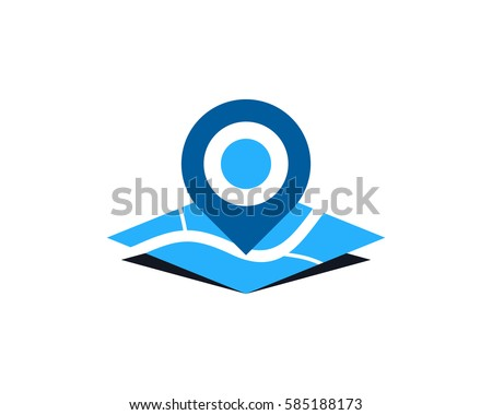 map pin logo design element stock vector royalty free 585188173