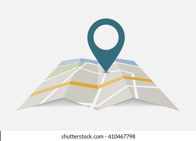 Map pin point icon. Locator position pinpoint vector. Trendy navigation symbol for website design, mobile app. Logo illustration.