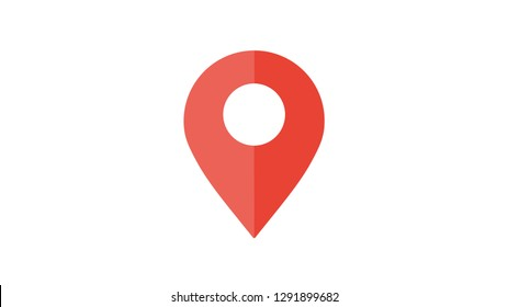 Map pin pointer icon location symbol