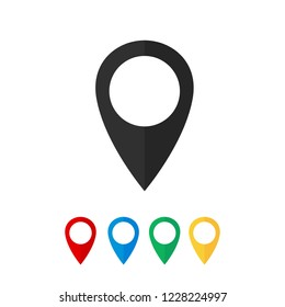 Map pin vector icon.
