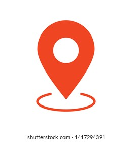 Map pin vector icon, gps pointer. Location sign. Locate symbol.