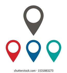 Map pin vector icon isolated on white background. Vector illustration. Eps 10.