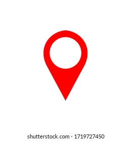 Map pin vector icon. Map marker icon symbol