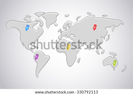 map pins indicating place intended stock vector royalty free