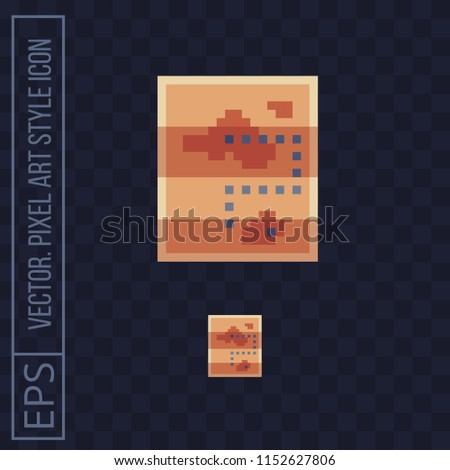 Map Pirate Vintage Old Maps Pixel Stock Vector (Royalty Free