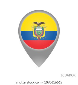 Labeled world map images stock photos vectors shutterstock map pointer with flag of ecuador gray abstract map icon vector illustration gumiabroncs Images