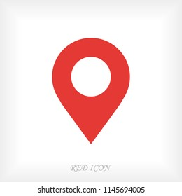 Map pointer flat icon, stock vector illustration flat design style