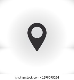 Map pointer flat icon. Vector  Eps 10