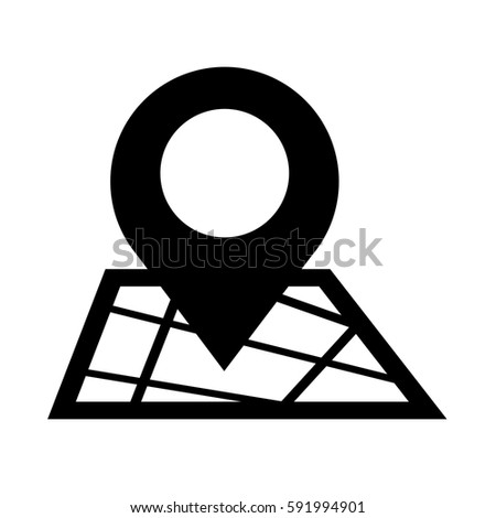 map pointer gps icon stock vector royalty free 591994901
