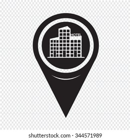 Map Pointer hotel icon
