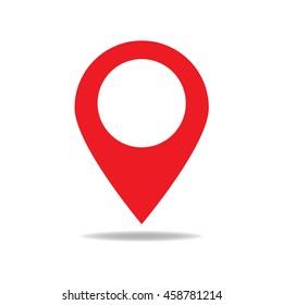 Map pointer icon. GPS location symbol. Flat design style
