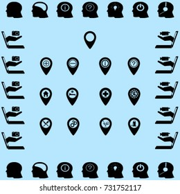 Map pointer icons set vector illustration