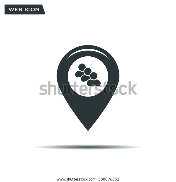 map pointer with man icon. vector illustration.