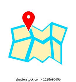 map pointer, map pin, map icon - arrow pin, compass location