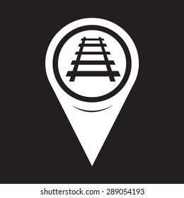 Map Pointer Railway Track Icon