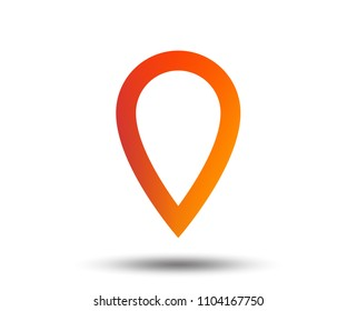 Map pointer sign icon. Location marker symbol. Blurred gradient design element. Vivid graphic flat icon. Vector