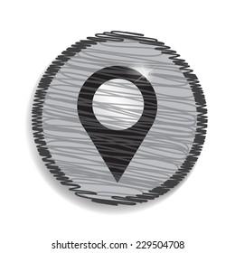 map pointer single icon. Vector illustration.
