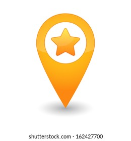 Map pointer with a star