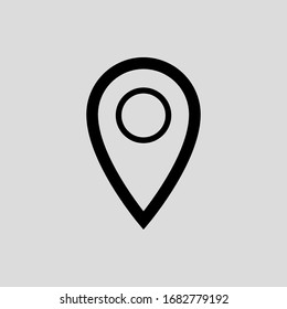 map pointer vector icon flat