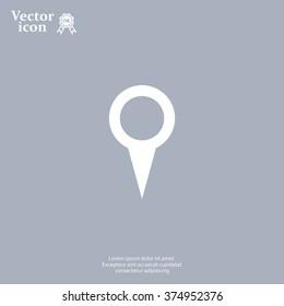 Map pointer - vector icon, flat design
