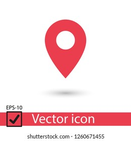 Map pointer vector icon, Home location illustration icon, marker icon, gps
