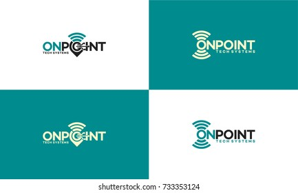 map pointer and wifi logo combination. GPS locator and signal symbol vector